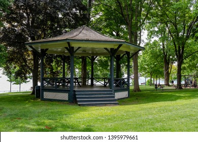 Bandstand in the Lakeside Park in Oakville lake shore.