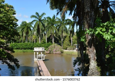 Bandstand on the lake at Ricardo Brennand Institute in Recife