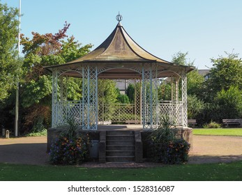 Bandstand in park in Chepstow, UK
