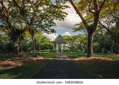 A bandstand at Singapore Botanic Gardens that was built in 1860s.