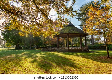 Bandstand at Victoria Park in Frome, Somerset, Uk