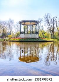 Bandstand at Vondelpark in Amsterdam, Netherlands