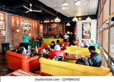 Bandung, Indonesia - 09th 05 2015: Cafe Interior