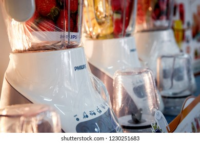 Bandung, Indonesia: 11th June 2013: Philips Blenders on Display