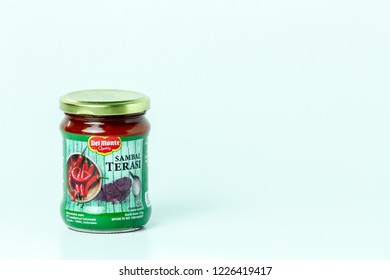 Bandung, Indonesia - 17th May 2015: Isolated Del Monte Sambal Terasi on a White Background
