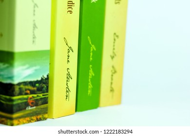 Bandung, Indonesia - 22nd January 2015: A Collection of English Classic Famous Novels for Book Lovers