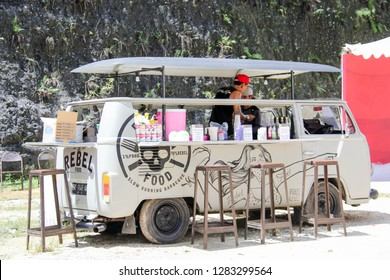 Bandung, Indonesia - 26th 11 2016: Food Truck Selling Food on the Street