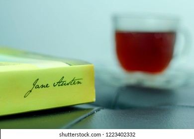 Bandung, Indonesia - 28th January 2015: Leisure Activity with Tea and Book from Jane Austen