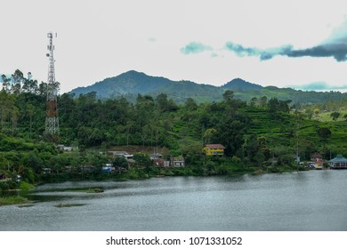 BANDUNG, INDONESIA - APRIL 18 2018 : view of tourist attraction in Glamping Lakeside Rancabali