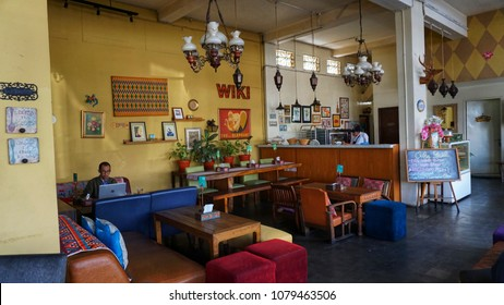 Bandung, Indonesia - April 2018 : One of coffee shop in bandung with classic theme
