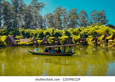 BANDUNG, INDONESIA - AUGUST 19, 2018: Dusun Bambu Family Leisure Park in Bandung