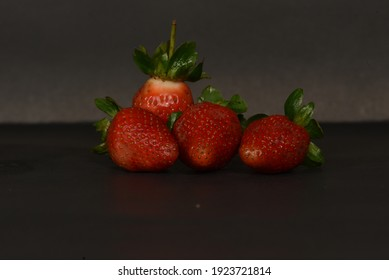 Bandung, Indonesia - February 24, 2021: Fresh strawberries contain lots of vitamins in Bandung, West Java, Indonesia