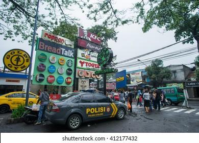 BANDUNG, INDONESIA - JANUARY 17 2016: Cihampelas Walk is a shopping mall in Bandung, Indonesia.