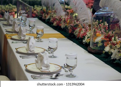 Bandung, Indonesia - September 9, 2017: A wedding is a ceremony where two people are united in marriage. Wedding traditions and customs vary greatly between cultures, ethnic groups, religions, etc.