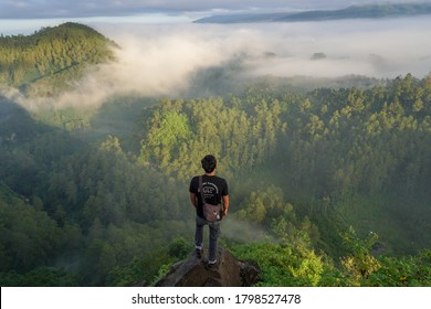 Bandung, West Java / Indonesia, April 30 2019,  The Tebing Keraton forest in the morning