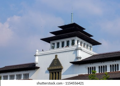 Bandung, West Java / Indonesia - August 11th 2018: Gedung Sate, Governor Building of West Java, an Old Historical Dutch Colonial Building