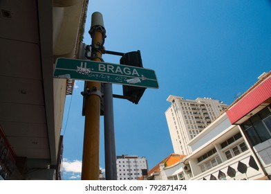 Bandung, West Java / Indonesia - February 28, 2013: Braga Street Bandung, West Java