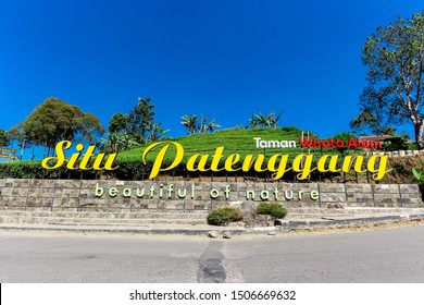 Bandung, West Java/Indonesia - 09 22nd 2015: Situ Patenggang (Lake Patenggang) Name Sign at Ciwidey