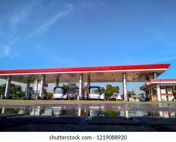 Bandung, West Java/Indonesia - 14th October 2018:  Indonesian Pertamina Gas Station