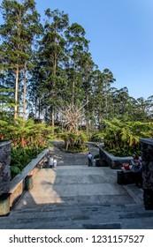 Bandung, West Java/Indonesia - 29th July 2015: Dusun Bambu Leisure Park Bandung
