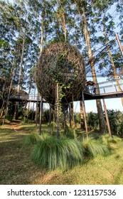 Bandung, West Java/Indonesia - 29th July 2015: Bird Nest Alike in Dusun Bambu Leisure Park Bandung
