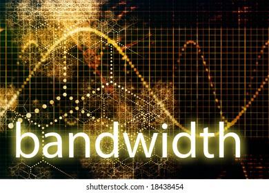 Bandwidth Abstract Technology Business Concept Wallpaper Background