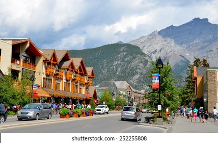 BANFF, AB- AUGUST 03: Banff town and Lifestyle on August 03, 2014 in Banff, AB . Banff is one of the most visited towns in the West Canada