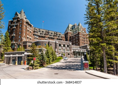 Banff, Alberta, Canada - June 2,2006 : front view of Fairmont Banff Springs Hotel, Banff, Alberta