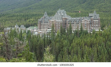 BANFF, ALBERTA September, 2017: Fairmont Banff Springs Hotel in Banff, Alberta