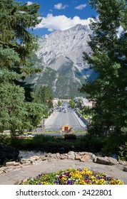 Banff High Street in the Canadian Rockies