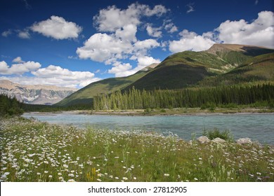 Banff National Park scenery in Rocky Mountains
