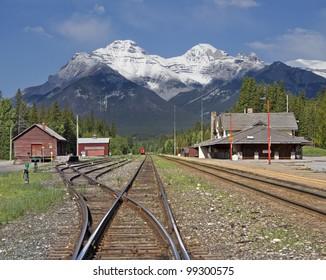 Banff Train Station, Banff National Park, Alberta, Canada