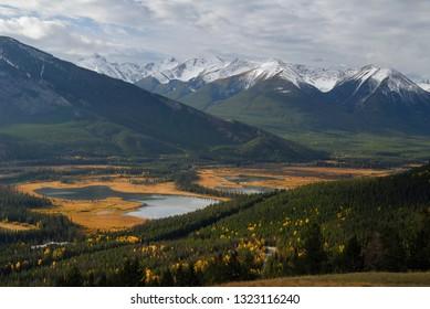 Banff Vermillion Lakes and Sundance Peak from Mount Norquay