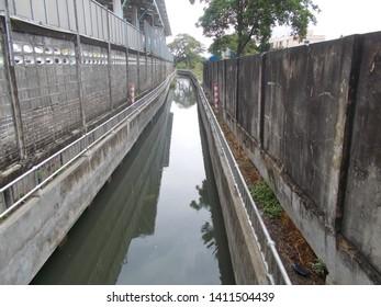 Bang Kapi in Bangkok. Thailand. 30-5-2019. Khlong Ban Ma Pumping Station