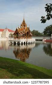 Bang Pa-In Royal Palace and the pond surrounding, Ayutthaya, Thailand