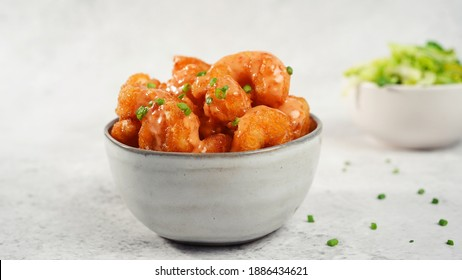 Bang bang Shrimp - batter fried crispy shrimp appetizer, selective focus