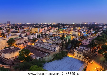 Bangalore City skyline, India