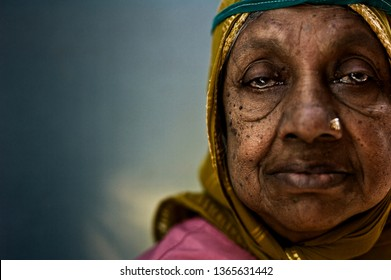 Bangalore, India - 23 Feb 2018: Unidentified authentic portraits woman in India