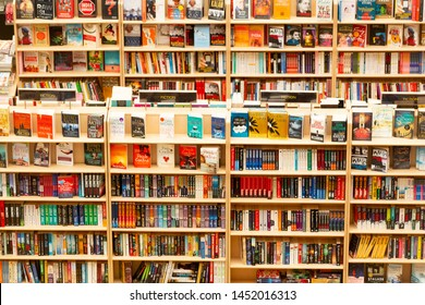 Bangalore, India - April 3, 2019: Books in a Library