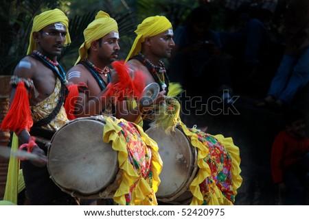 Traditional music play (dollu kunitha ) youtube.