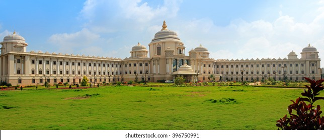 BANGALORE, INDIA - Dec 14: Sathya Sai super specialty hospital in India on Dec 14, 2015.Sathya Sai Baba has established hospitals that offer world-class healthcare to all totally free of charge.