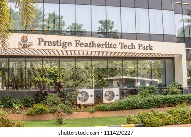 Bangalore, India, May 20, 2018, Bengaluru city, Building of Prestige Featherlite Tech Park