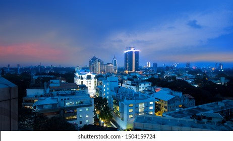 Bangalore, Karnataka, India - December 27, 2018: Apartment homes  in Bangalore city ,Residential home sales in Bangalore are at study growth of 9-10% .