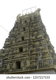 Bangalore, Karnataka, India - November 23 2018 Gopuram of Nandi Bull Temple or Dodda Basavana Gudi temple