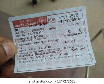 India Railway Ticket Stock Photos, Images & Photography