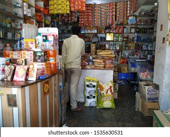Bangalore, Karnataka/India-Oct 13 2019: Ration or Provision store in the city for grocery