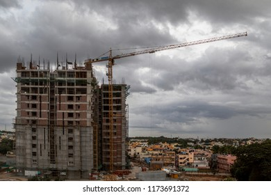 bangalore,India, 6 Sep 2018, Indians Construction site.