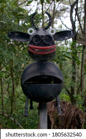 Bangalow, New South Wales, Australia - 12th February 2020: Creative australian mail box resembling a Cow located in Byron Bay hinterland