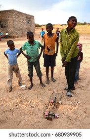 BANGANI NAMIBIE OCTOBER 10: Unidentified children living in town of Bangani on october 10 2014. In Namibia About 27.6 per cent of households are classified as poor