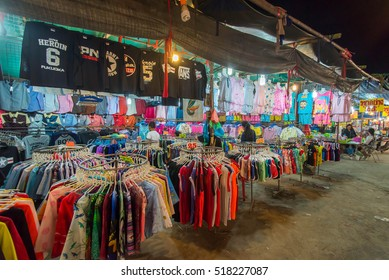 BANGBUTONG, THAILAND - March 18, 2016: Night shops in Thailand.